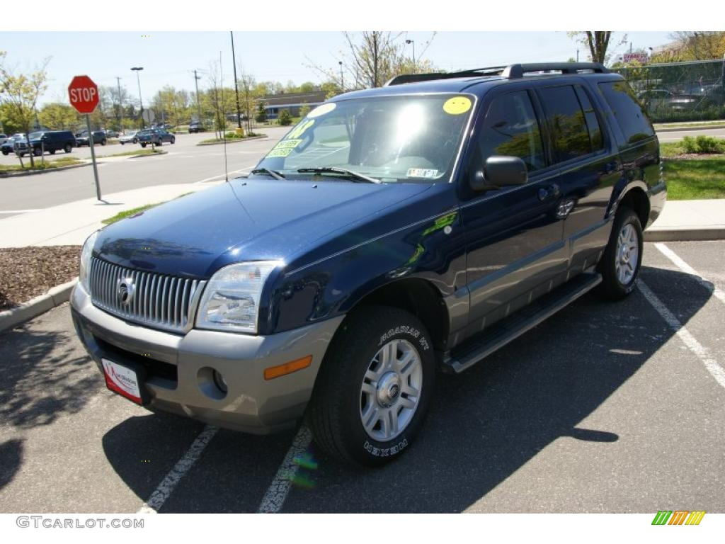 Dark blue pearl mercury mountaineer