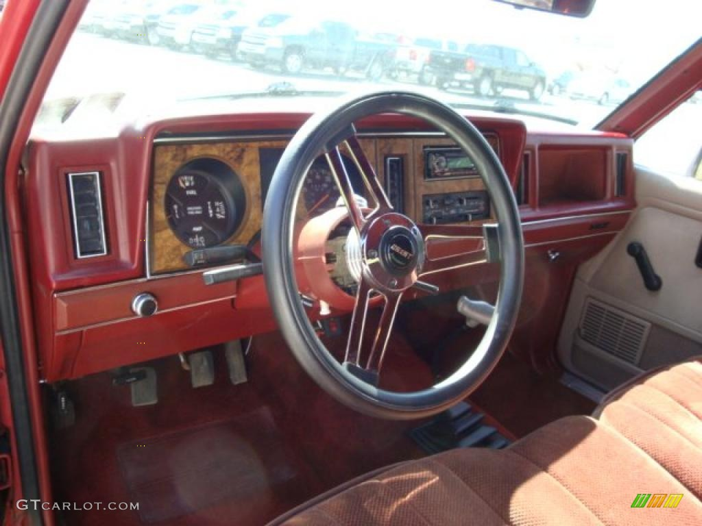 1987 ranger xlt supercab 4x4 red red photo 9