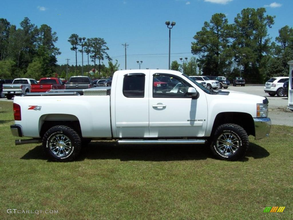 2008 summit white chevrolet silverado 2500hd ltz extended cab 4x4 29266613 photo 4 gtcarlot. Black Bedroom Furniture Sets. Home Design Ideas