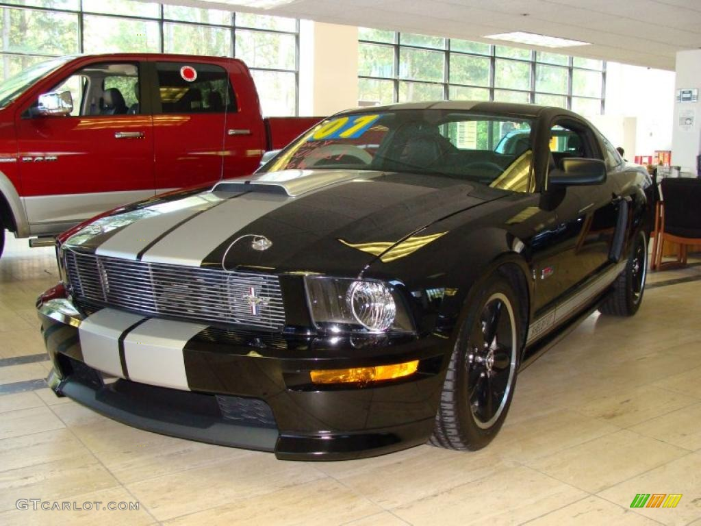 2007 Mustang Shelby GT Coupe - Black / Black Leather photo #1