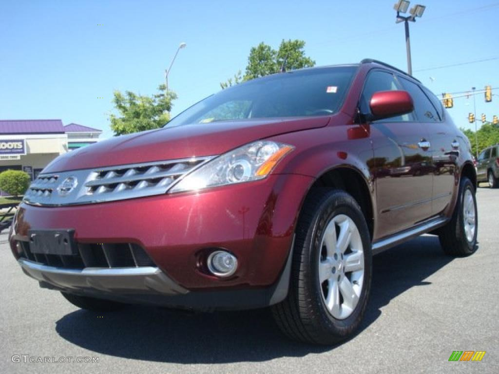 2007 Murano SL AWD - Merlot Pearl / Charcoal photo #1