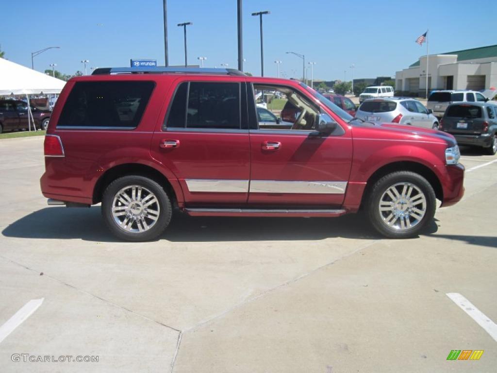 Vivid Red Metallic 2007 Lincoln Navigator Luxury Exterior Photo #29397251