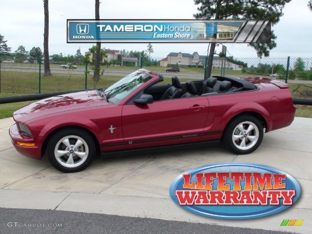 2007 Mustang V6 Premium Convertible - Redfire Metallic / Dark Charcoal photo #1