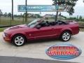 2007 Redfire Metallic Ford Mustang V6 Premium Convertible  photo #1