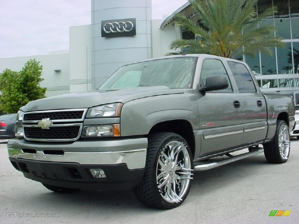 2006 graystone metallic chevrolet silverado 1500 ls crew cab 4x4 29404356 car. Black Bedroom Furniture Sets. Home Design Ideas