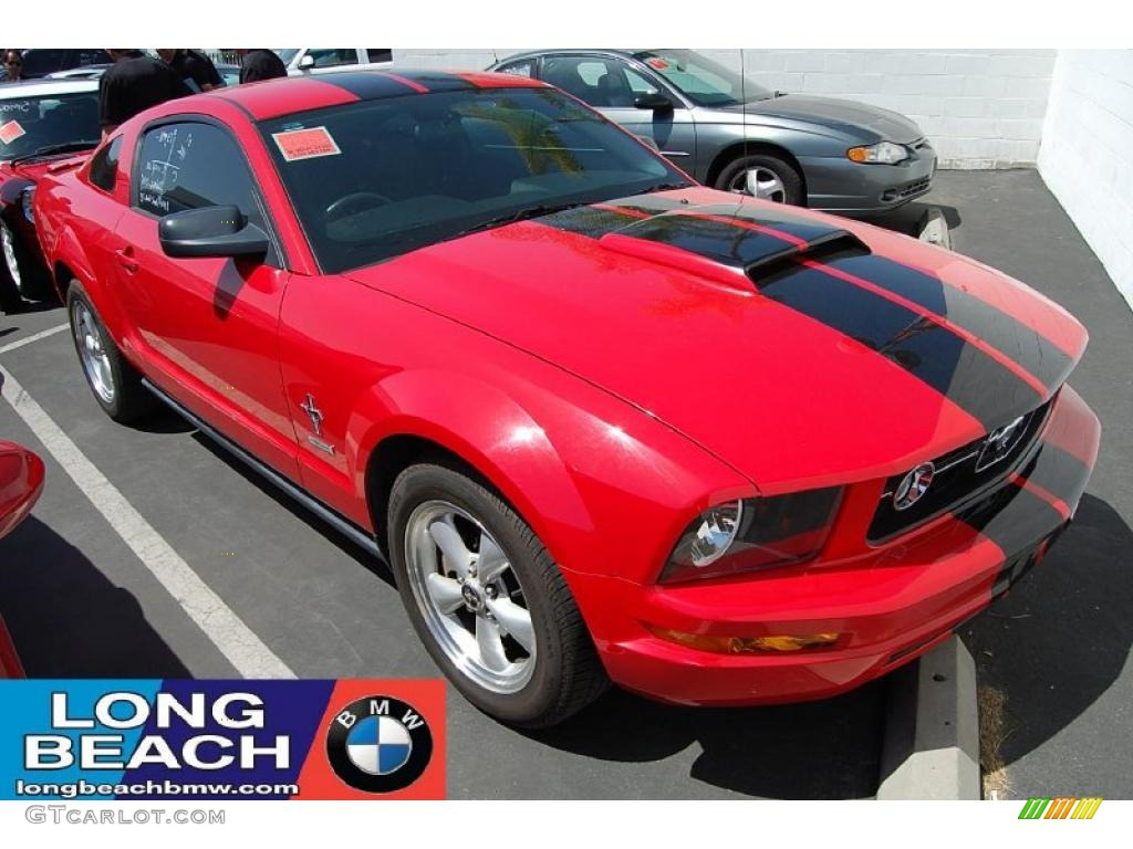 Torch Red Ford Mustang