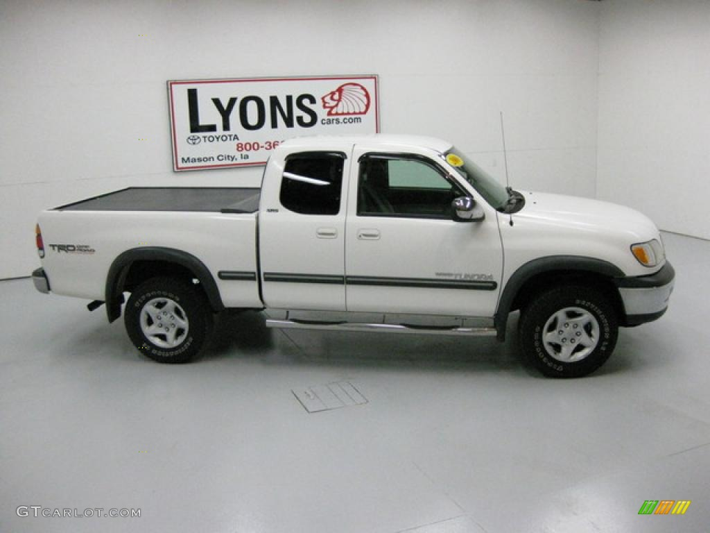 2000 Natural White Toyota Tundra Sr5 Trd Extended Cab 4x4