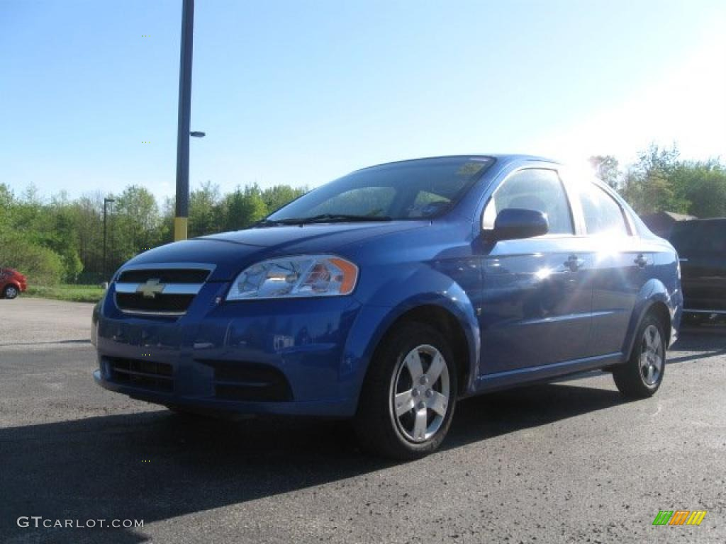 2009 bright blue chevrolet aveo lt sedan 29483873 car color galleries. Black Bedroom Furniture Sets. Home Design Ideas
