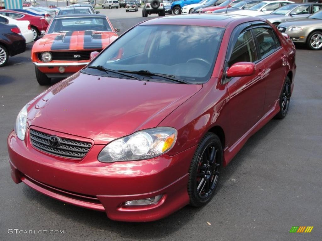 2005 impulse red toyota corolla xrs 29483833 photo 2 car color galleries. Black Bedroom Furniture Sets. Home Design Ideas