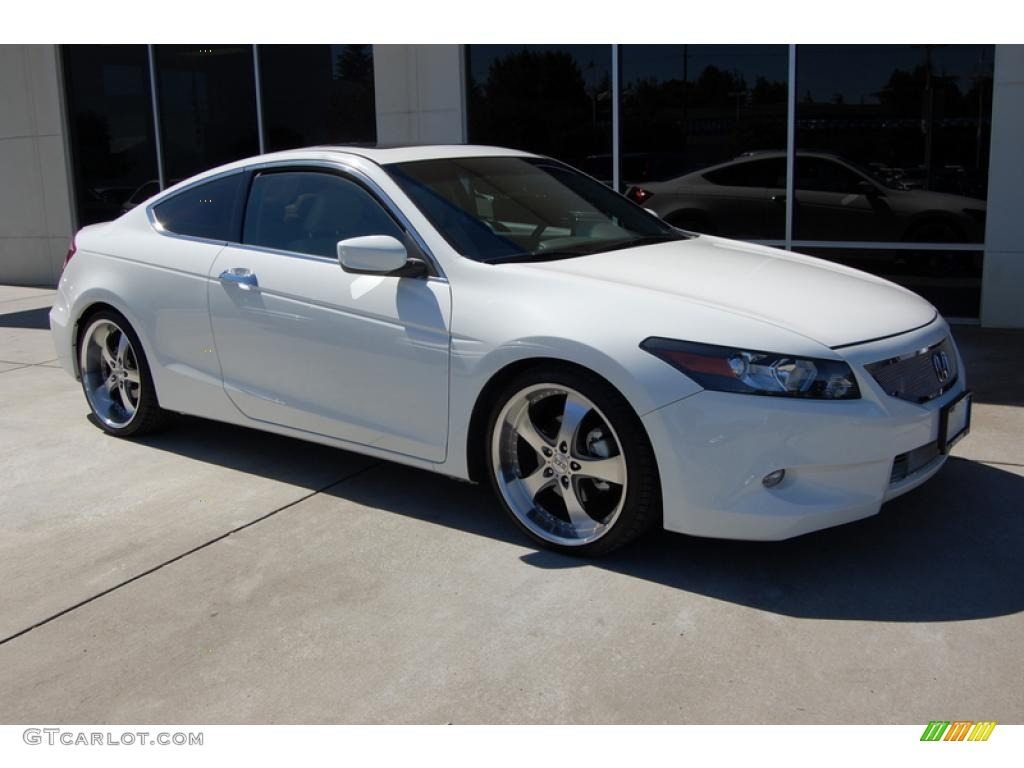 2010 White Diamond Pearl Honda Accord Ex L V6 Coupe