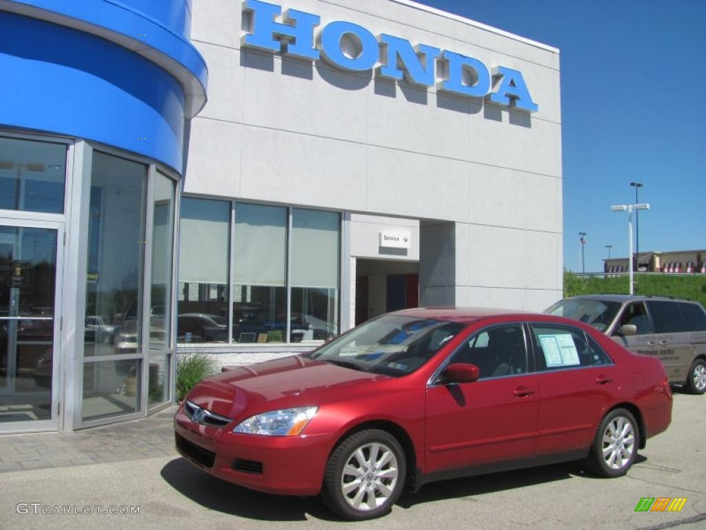 2007 accord se v6 sedan moroccan red pearl gray photo 1 - Moroccan Red Paint