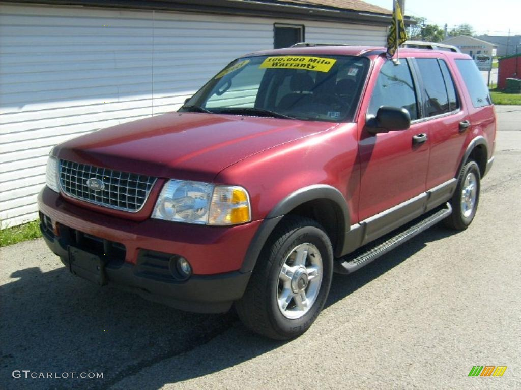 2003 Explorer XLT 4x4 - Redfire Metallic / Graphite Grey photo #1