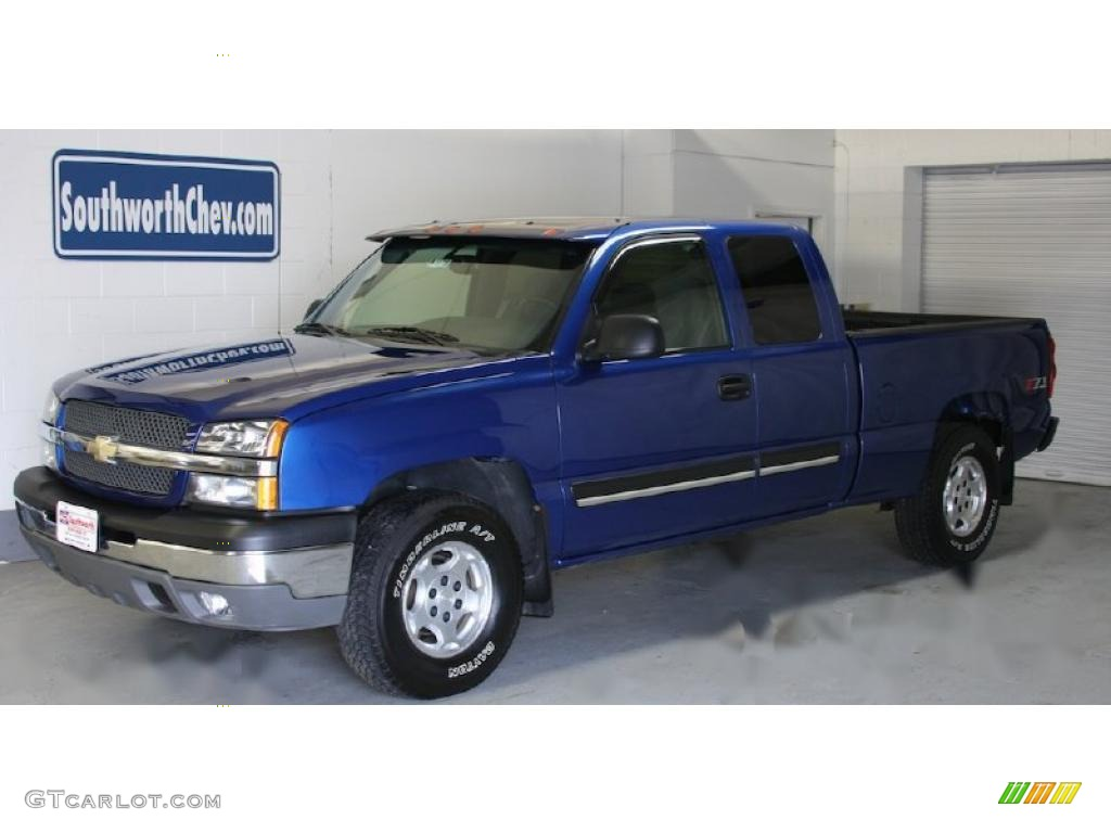 2004 arrival blue metallic chevrolet silverado 1500 z71. Black Bedroom Furniture Sets. Home Design Ideas