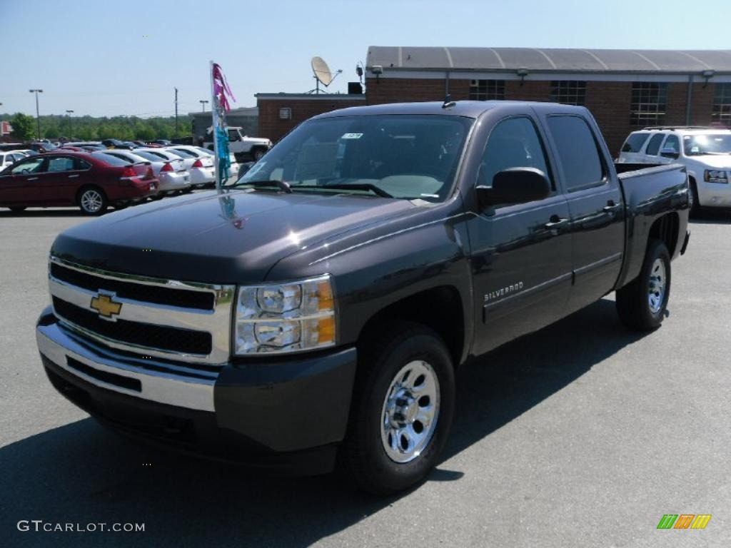 2010 Silverado 1500 Ls Crew Cab 4x4 Taupe Gray Metallic Dark Anium Photo