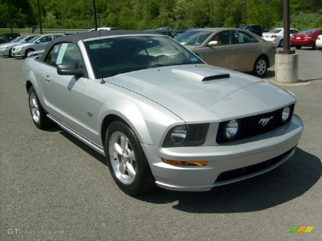 2007 Mustang GT Premium Convertible - Satin Silver Metallic / Dark Charcoal photo #1