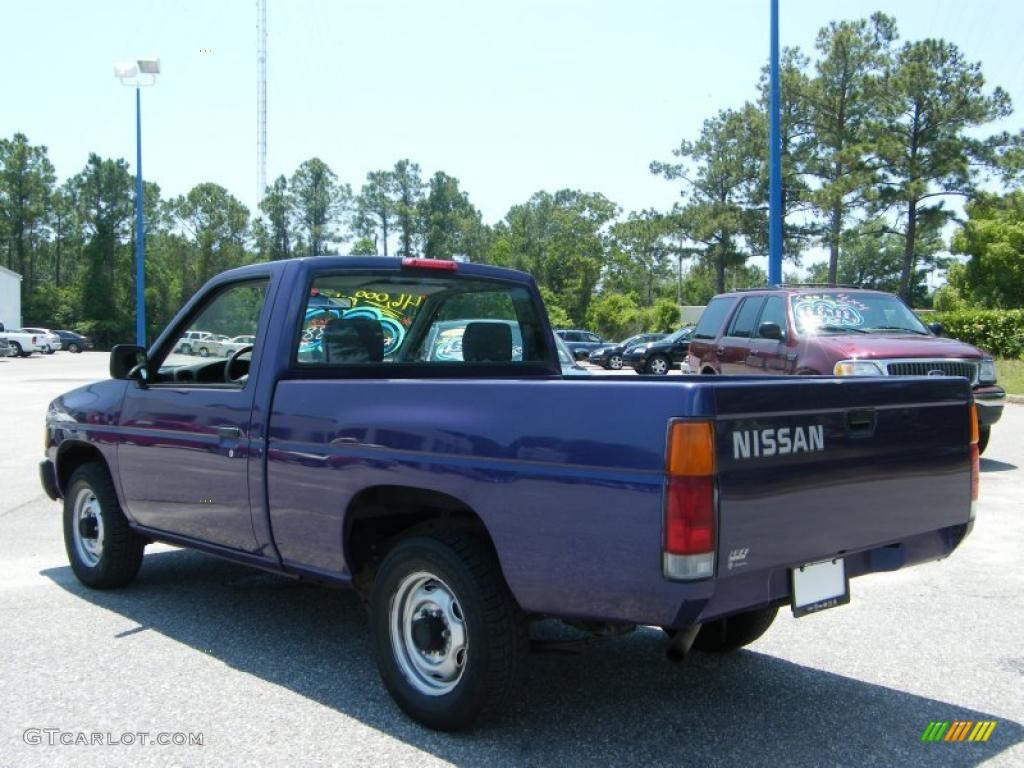1996 hardbody truck regular cab royal blue metallic dark gray photo 3