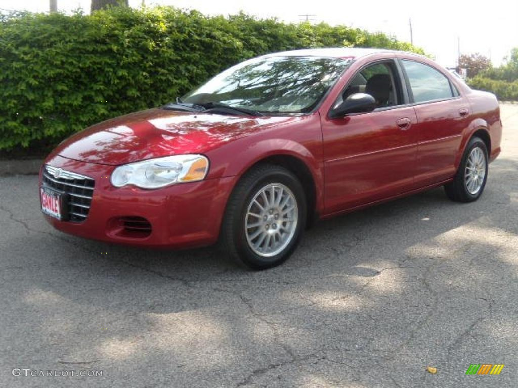 2004 inferno red pearl chrysler sebring lx sedan 29668896. Black Bedroom Furniture Sets. Home Design Ideas