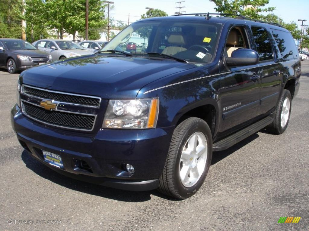2007 dark blue metallic chevrolet suburban 1500 lt 4x4. Black Bedroom Furniture Sets. Home Design Ideas