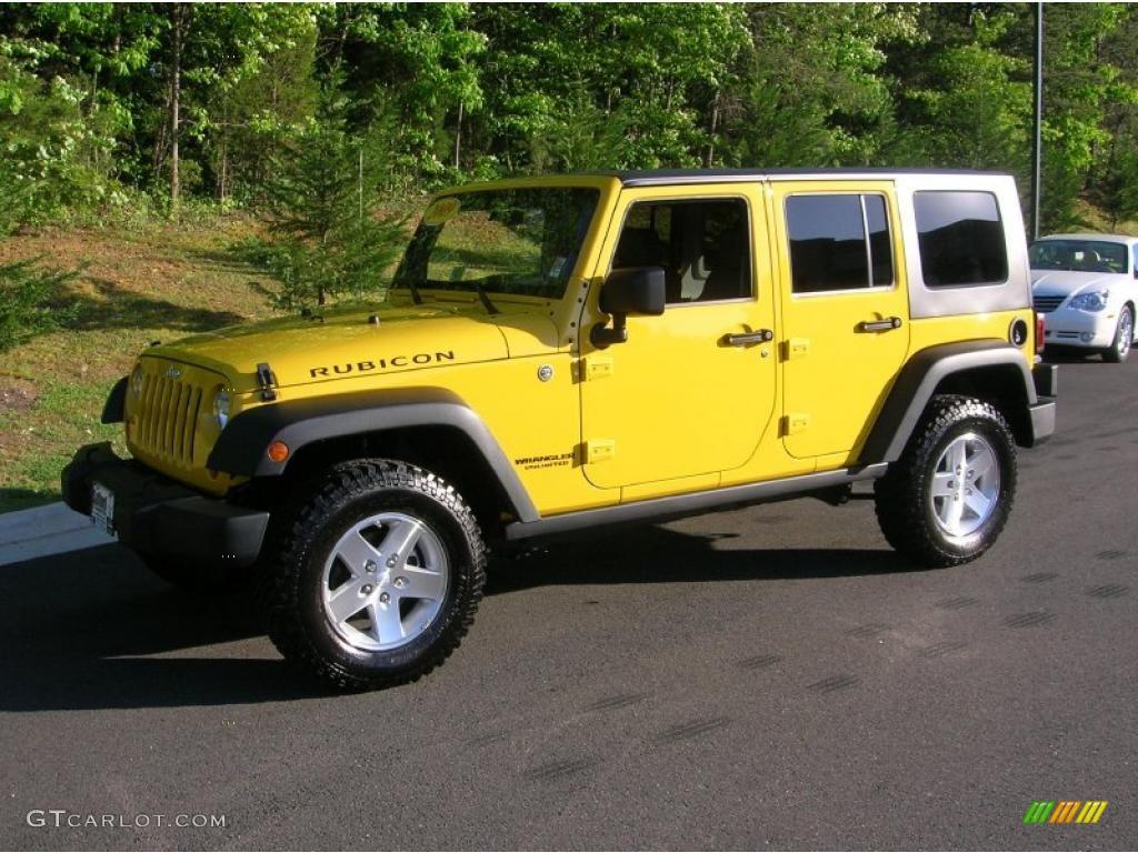 2009 Detonator Yellow Jeep Wrangler Unlimited Rubicon 4x4