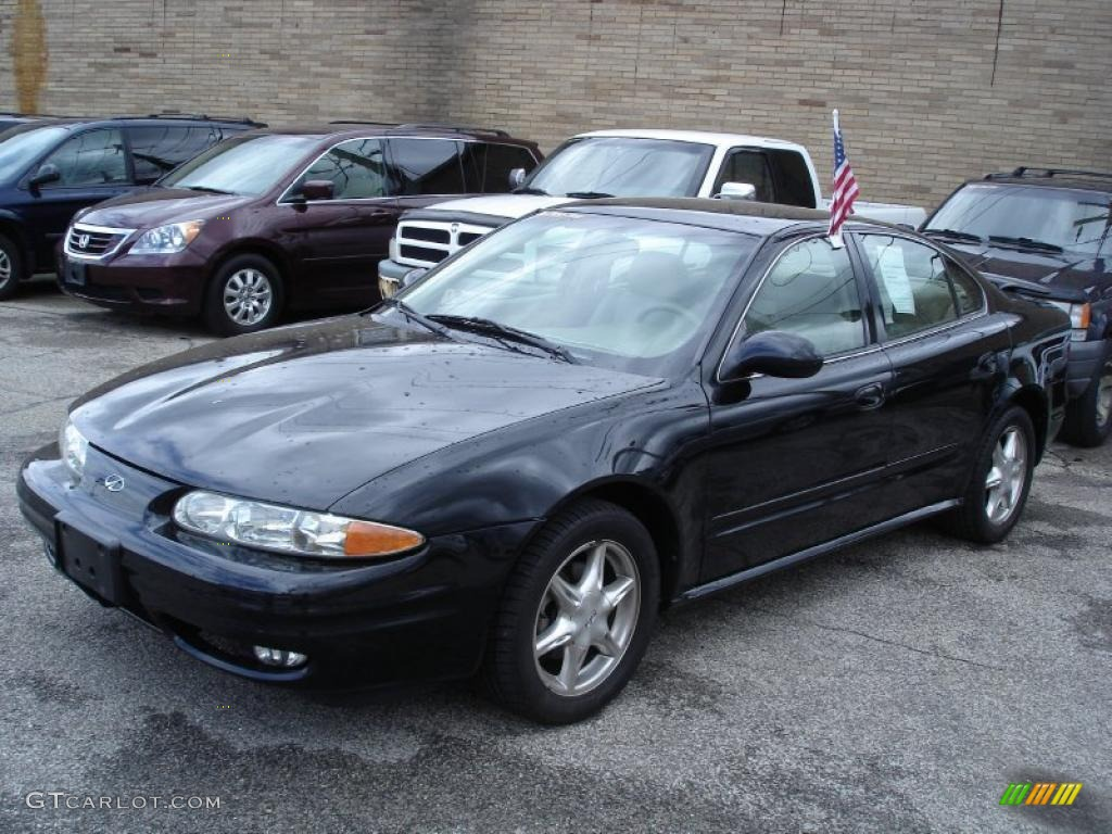 2000 Alero GLS Sedan - Black Onyx / Neutral photo #2