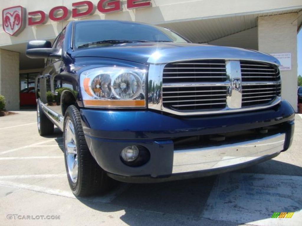 2006 Ram 1500 Laramie Quad Cab - Patriot Blue Pearl / Medium Slate Gray photo #1