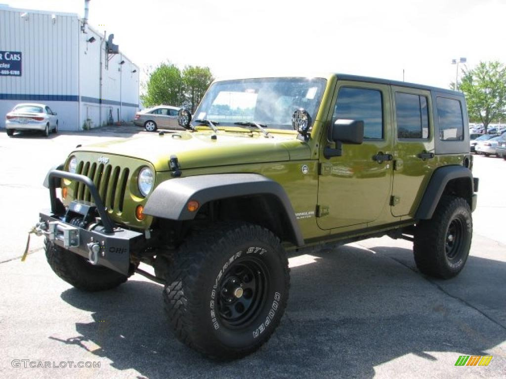 2007 jeep wrangler unlimited x 4x4 rescue green metallic color. Cars Review. Best American Auto & Cars Review