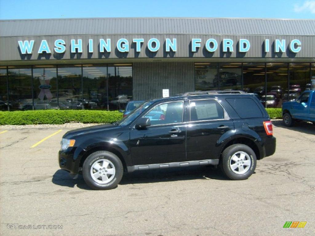 2009 Escape XLT V6 4WD - Black Pearl Slate Metallic / Charcoal photo #1