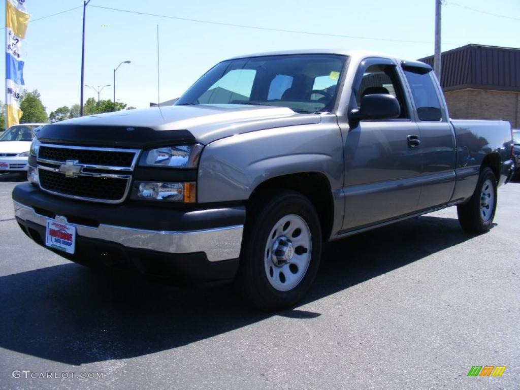 2006 Silverado 1500 LS Extended Cab - Graystone Metallic / Dark Charcoal photo #1