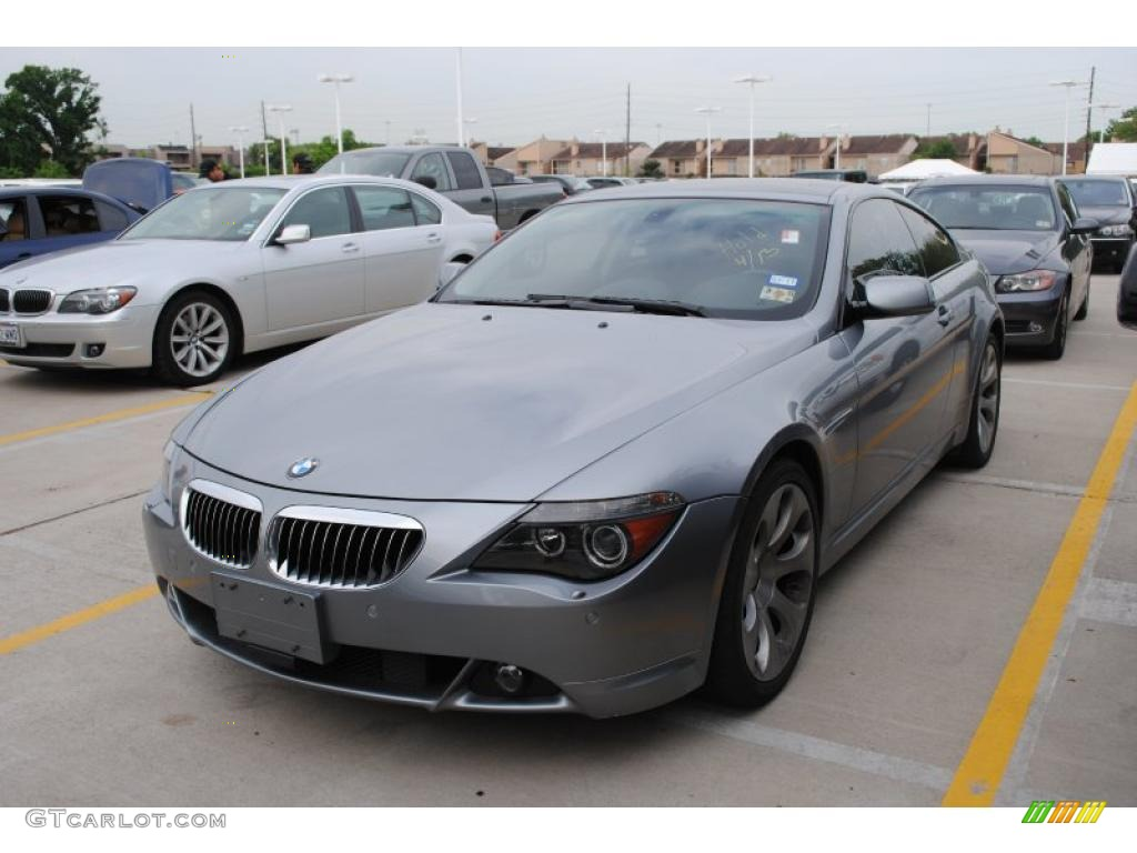 2007 silver grey metallic bmw 6 series 650i coupe 29762613 car color galleries. Black Bedroom Furniture Sets. Home Design Ideas