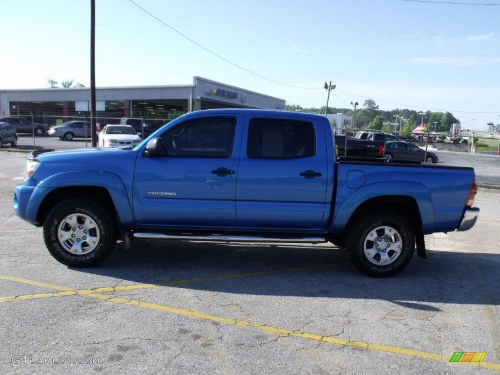 2005 speedway blue toyota tacoma prerunner double cab 29762439 photo 2 car. Black Bedroom Furniture Sets. Home Design Ideas
