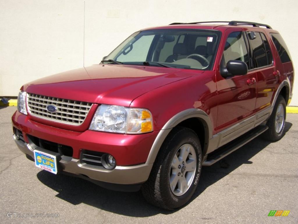 2003 Explorer Eddie Bauer 4x4 - Redfire Metallic / Medium Parchment Beige photo #1