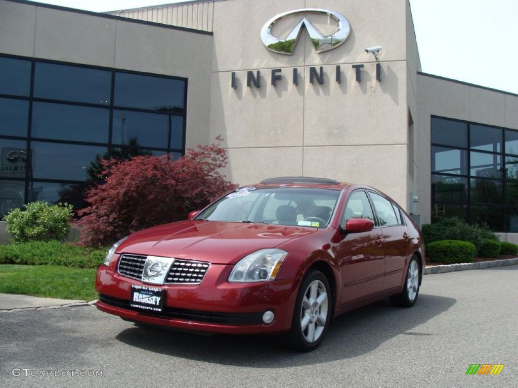 2004 red opulence nissan maxima 35 se 29831938 gtcarlot 2004 maxima 35 se red opulence cafe latte photo 1 vanachro Gallery