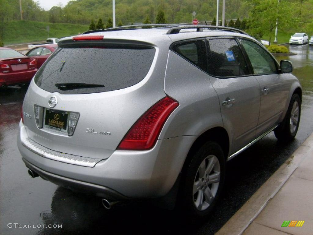 2007 Murano SL AWD - Brilliant Silver Metallic / Cafe Latte photo #5
