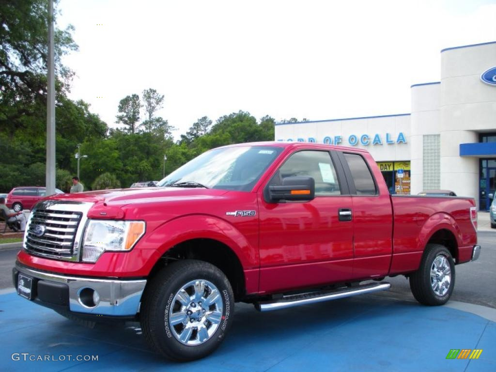 2010 red candy metallic ford f150 xlt supercab 29899527. Black Bedroom Furniture Sets. Home Design Ideas
