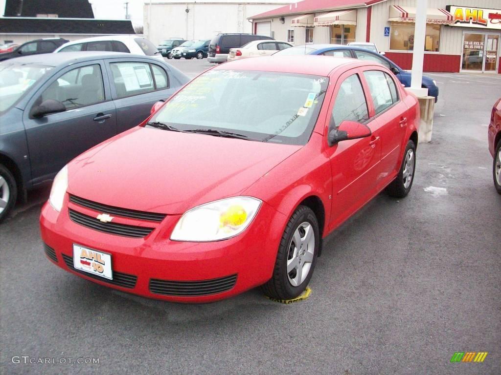 2007 Cobalt LT Sedan - Victory Red / Gray photo #1