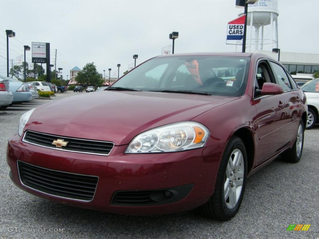 2006 sport red metallic chevrolet impala lt 29899560. Black Bedroom Furniture Sets. Home Design Ideas