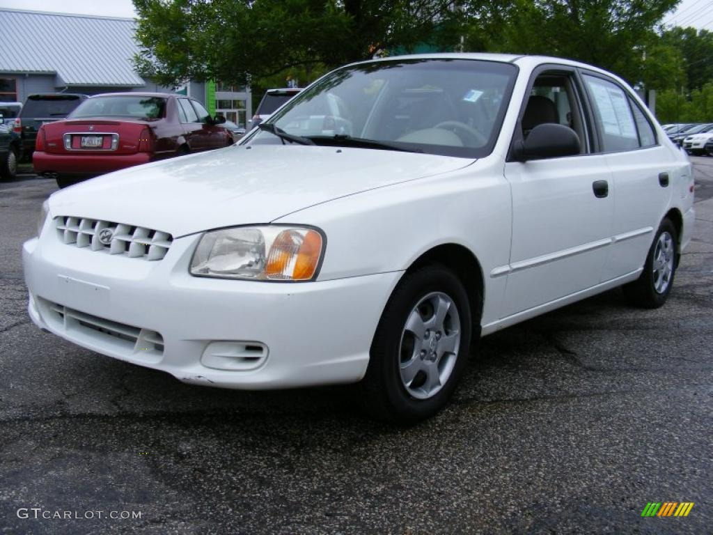 2002 noble white hyundai accent gl sedan 29899394 gtcarlot com car color galleries gtcarlot com