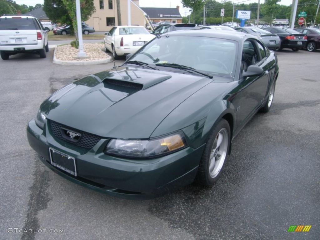2001 Mustang Bullitt Coupe - Dark Highland Green / Dark Charcoal photo #1
