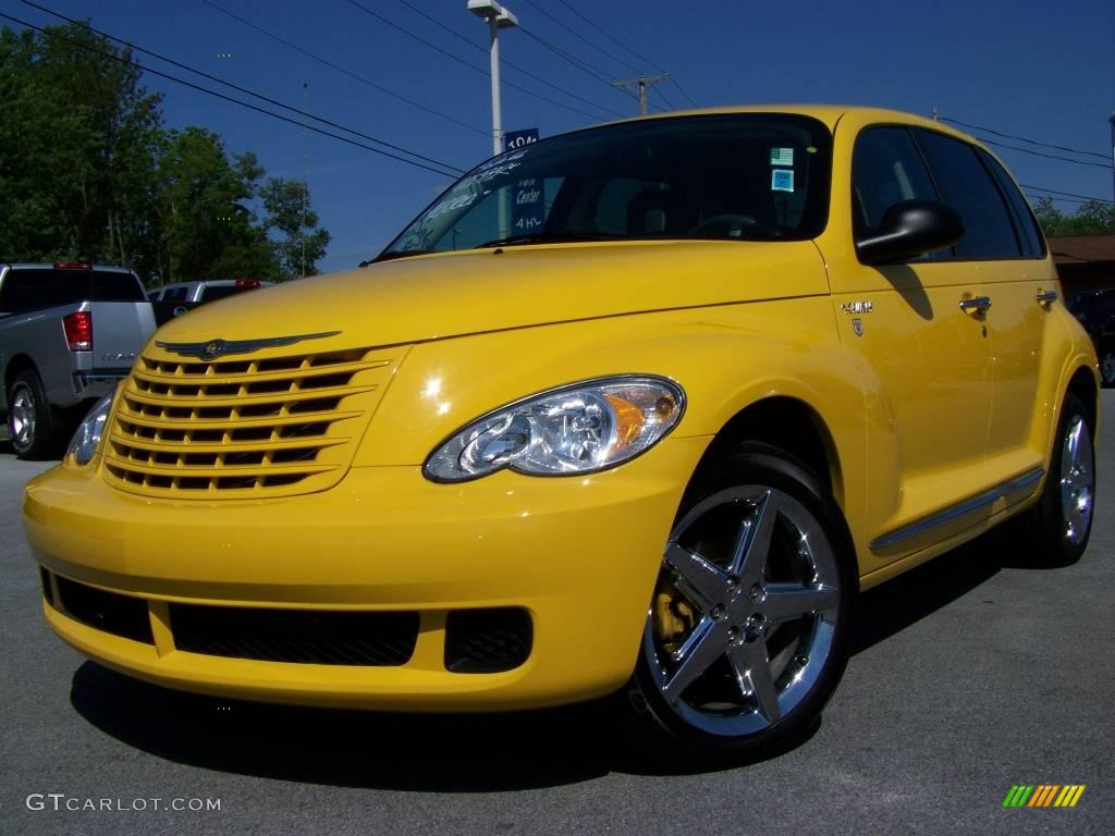 2006 solar yellow chrysler pt cruiser street cruiser route 66 edition 2974224. Black Bedroom Furniture Sets. Home Design Ideas