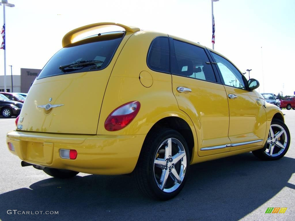 2006 solar yellow chrysler pt cruiser street cruiser route. Black Bedroom Furniture Sets. Home Design Ideas