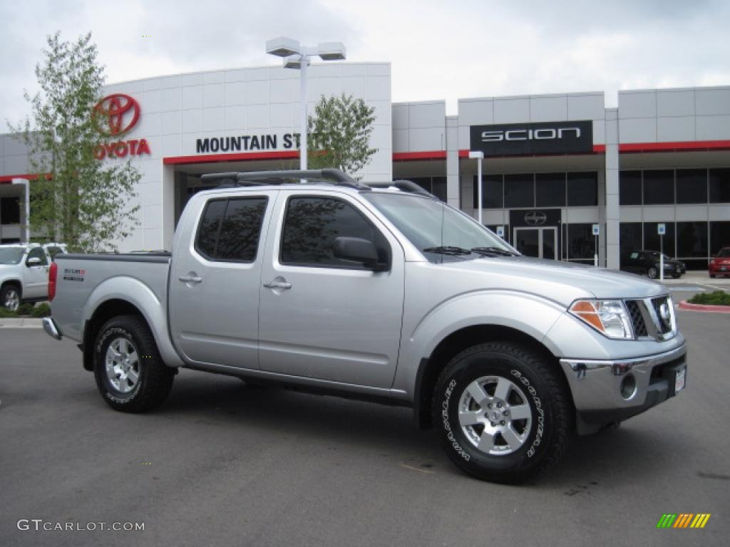 2008 Frontier Nismo Crew Cab 4x4   Radiant Silver / Blue Photo #1
