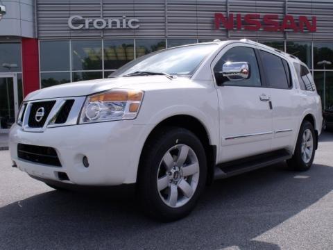 2010 Blizzard White Nissan Armada Titanium