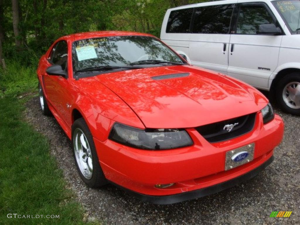 2000 Mustang V6 Coupe - Performance Red / Medium Parchment photo #1
