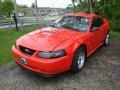 2000 Performance Red Ford Mustang V6 Coupe  photo #6