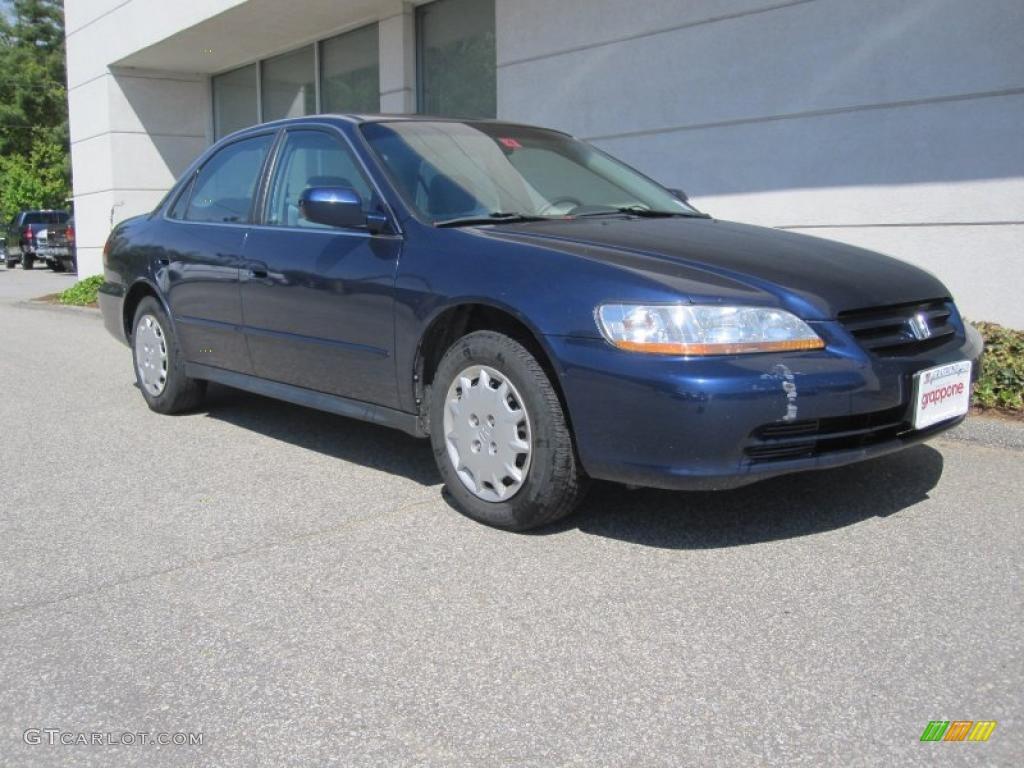 2002 Accord LX Sedan - Eternal Blue Pearl / Quartz Gray photo #1