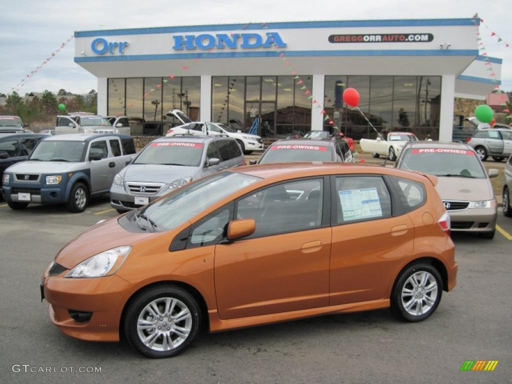 2010 orange revolution metallic honda fit sport 29957439 for Orange honda fit