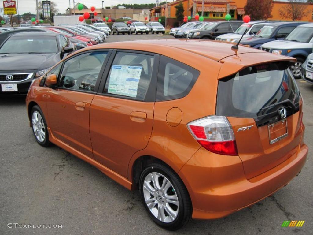 2010 orange revolution metallic honda fit sport 29957439 photo 3 gtcarlot com car color galleries gtcarlot com