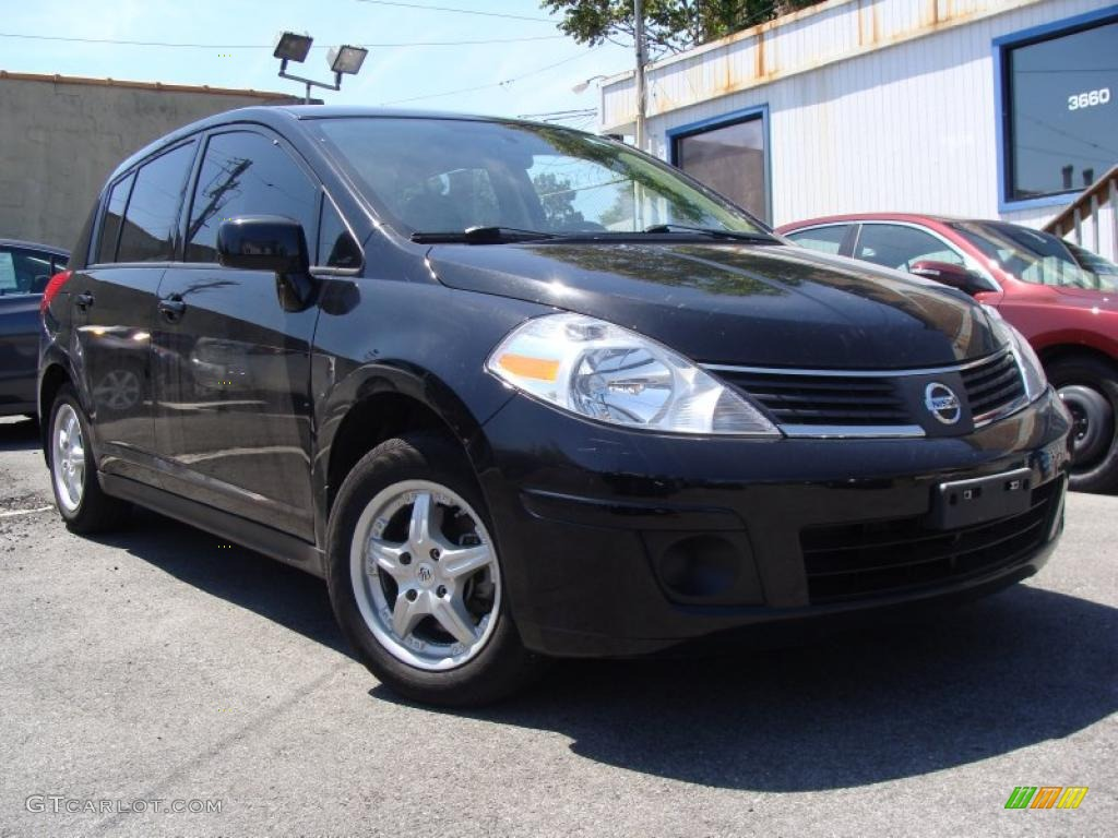 2009 Super Black Nissan Versa 1 8 S Hatchback 29957761