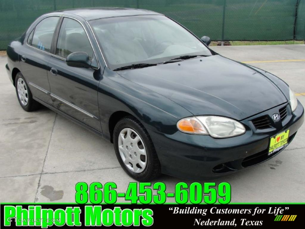 2000 forest green hyundai elantra gls sedan 29957310. Black Bedroom Furniture Sets. Home Design Ideas