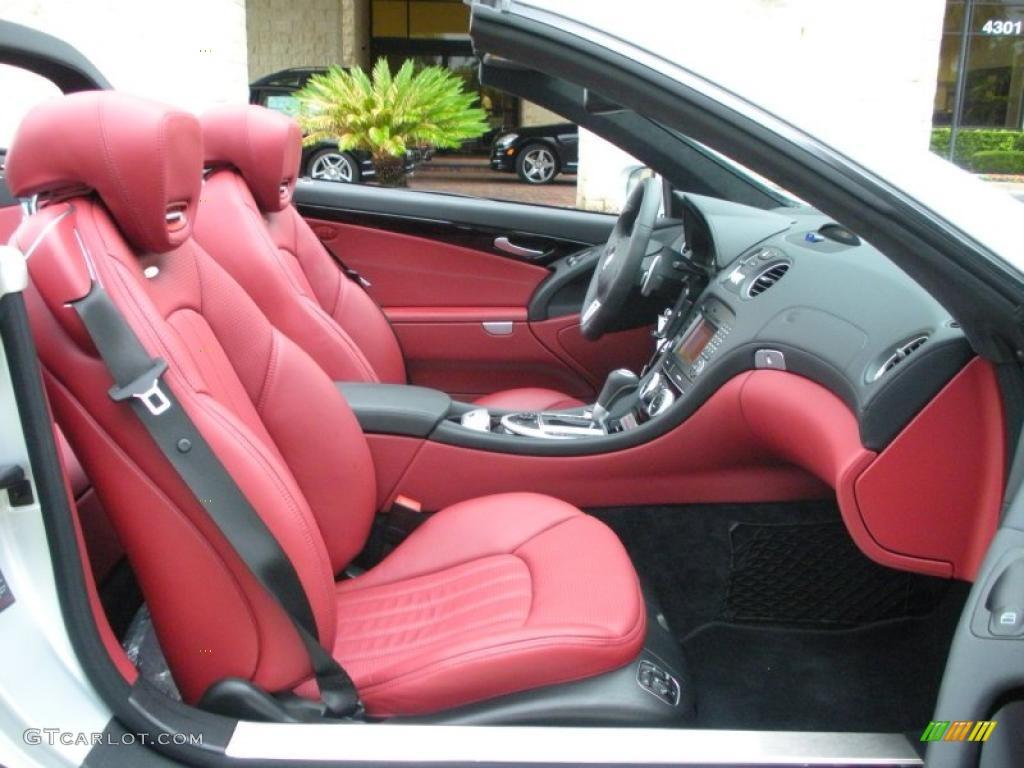 Red Interior 2009 Mercedes Benz Sl 63 Amg Silver Arrow Edition Roadster Photo 30053603